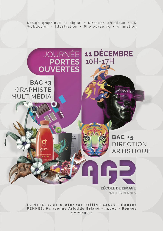 Portes Ouvertes Samedi 02 Octobre 2021 - AGR, l'École de l'Image - Nantes | Rennes